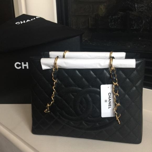 ced8b9d4033f Chanel Caviar Grand Shoppers Tote GST gold HW